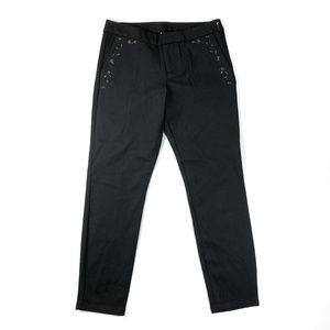 Kut From The Kloth Black Embroidered Ankle Pants